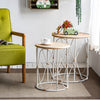 Boho Bamboo Side Table