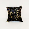 Black Gold Cowhide Cushion Cover