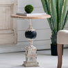 Distressed Pillar Side Table