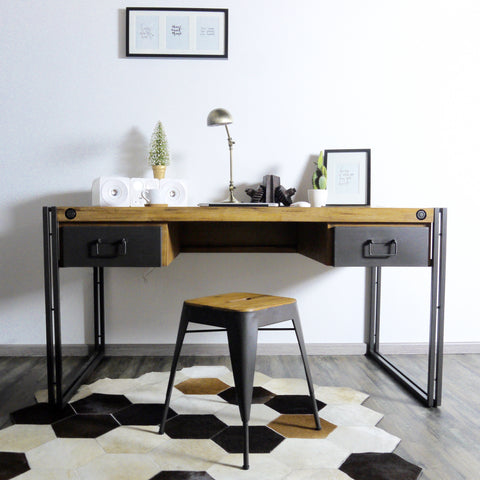 City Desk with 2 Drawers