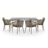 Eden Glass Dining Set (As-Is)