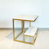 Khloe Sq Marble Side Table