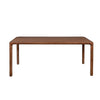 Walnut Rectangular MDF Wood Dining Table Singapore