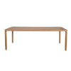 Rectangular Dining Table with round edges in natural wood colour