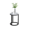 Khloe Round Marble Side Table