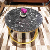 Khloe Round Marble Coffee Table (As-Is)