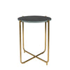 Timpa Emerald Green Marble Side Table