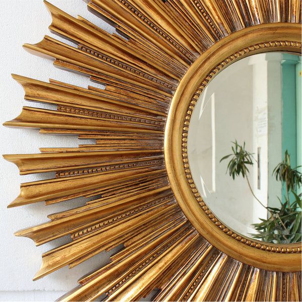 Round Sunburst Mirror