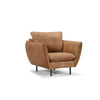 William Arcmchair Aniline leather Brown Sofa Furniture singapore
