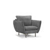 William Arcmchair Aniline leather Dark Grey Sofa Furnituresingapore
