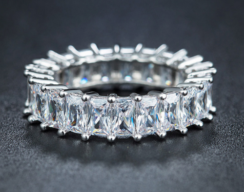 Crystal Eternity Ring