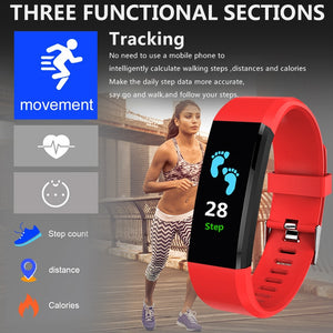 Smart Watch For Men Women Heart Rate Monitor Blood Pressure Fitness Tracker Smartwatch Sport Watch for ios android +BOX