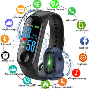 Smart Wristband Bracelet M3 Fitness Tracker Pedometer Blood Pressure Heart Rate Monitor Waterproof Wristband PK Xiaomi Band 3