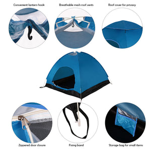 TOMSHOO 2-3 Person Instant Pop Up Waterproof Sun Shelter Tent Outdoor Portable Beach Tent Camping Hiking Folding Backpack Tent