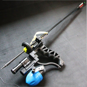 Powerful Target Shooting Slingshot with Fishing Wheel Catapult Professional Hunter Hunting Fishing Sling Shot With Arrow Clip