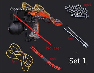 Powerful Fishing Slingshot Target Shooting with Folding Wrist Catapult outdoor Professional Hunter Hunting Slingshot