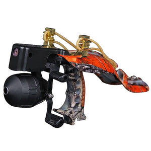 Compound Bow Hunting Adult Laser Slingshot Strong &Durable Metal Catapult for Outdoor Games Stainless Steel Fishing Slingshot