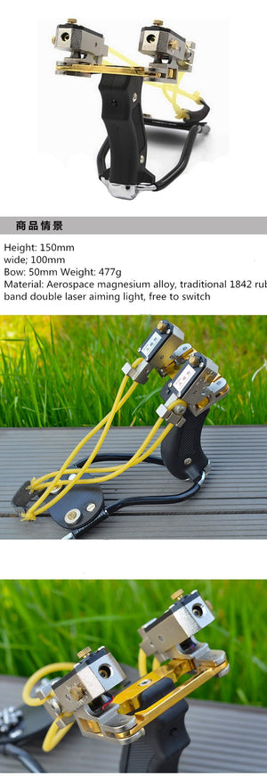 18 fishing slingshot hunting powerful slingshot camouflage stainless steel hunter aluminum slingshot and laser