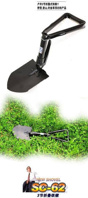 Large Outdoor Folding Shovel Multi-purpose Spade Hiking Camping Portable