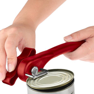 Outdoor Tools Easy Manual Metal Can Opener Professional Effortless Stainless Steel Openers with Turn Knob