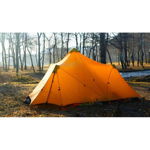 1240G Camping Tent Ultralight 6-8 Person Outdoor 20D Nylon Both Sides Silicon Coating Rodless Large Space Tent Triangle 4 Season