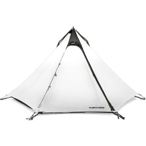 FLAME'S CREED Ultralight Outdoor Camping Teepee 15D Silnylon Pyramid Tent 2-3 Person Large UL Gear Tent Backpacking Hiking Tents