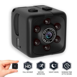 1080P Outdoor Micro Camera Recorder Portable Cube Camera Mini Security Camera Night Vision Motion Detection Camera Outdoor Tools