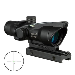 Trijicon ACOG 4X32 Hunting Riflescope Real Fiber Optics Grenn Red Dot Illuminated Chevron Etched Reticle Tactical Optical Sight