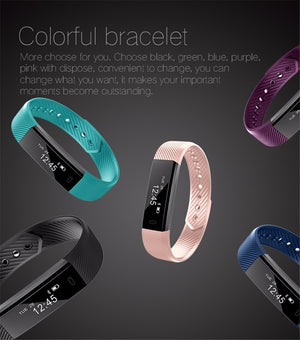 2019 Smart Bracelet Step Counter Fitness SmartBand Alarm Clock Vibration Wristband pk ID107 fit bit miband2 Watch Heart pk M2 Y5