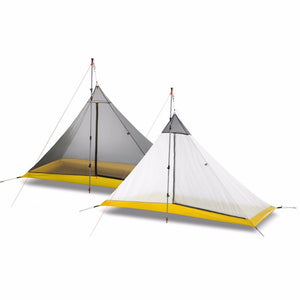FLAME'S CREED Ultralight 1-2 Person silicon coating inner tent summer outdoor 3 seasons camping tent Rodless Pyramid Large Tent