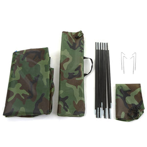 Outdoor 2 Persons Camping Tent 200 * 130 * 110cm PU1000mm Polyester Single Layer Tent Portable Camouflage Hiking Outdoor Tent