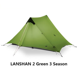 2019 3F UL GEAR LanShan 2 People Oudoor Ultralight Camping Tent 3/4 Season 1 Single 15D Nylon Silicon Coating Rodless Tent