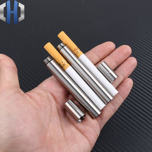 Sealed Titanium Alloy Waterproof Canister Seals Capsule Bottle EDC Outdoor Tool Cigarettes Moistureproof