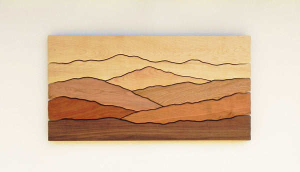 Mountain scene wall art
