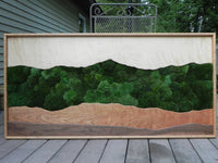 Green Mountain Moss Wall Art