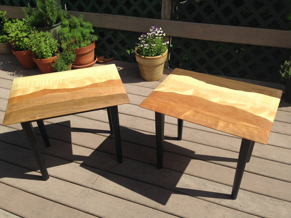 Night stand mountain tables, set of two