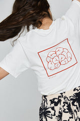 PRE-ORDER The Girl Effect Tee - Not Just A Pretty Face - Vintage White & Red
