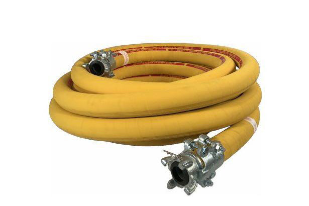 600 PSI Wire Reinforced Air Hose Bull Hose Coupled Female x Male