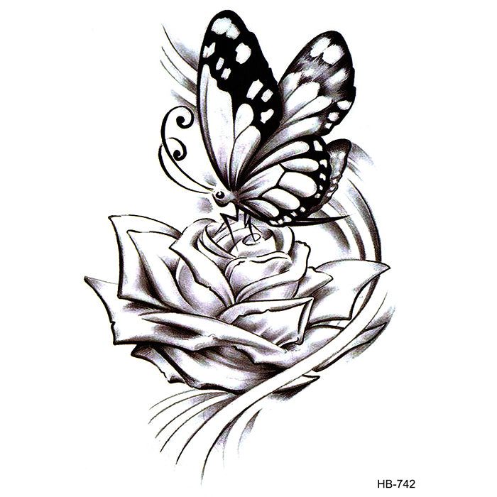 HB742 ROSE & BUTTERFLY