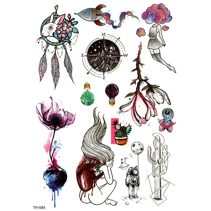 TH584 MULTI DREAMCATCHER & GILRS & ROSE