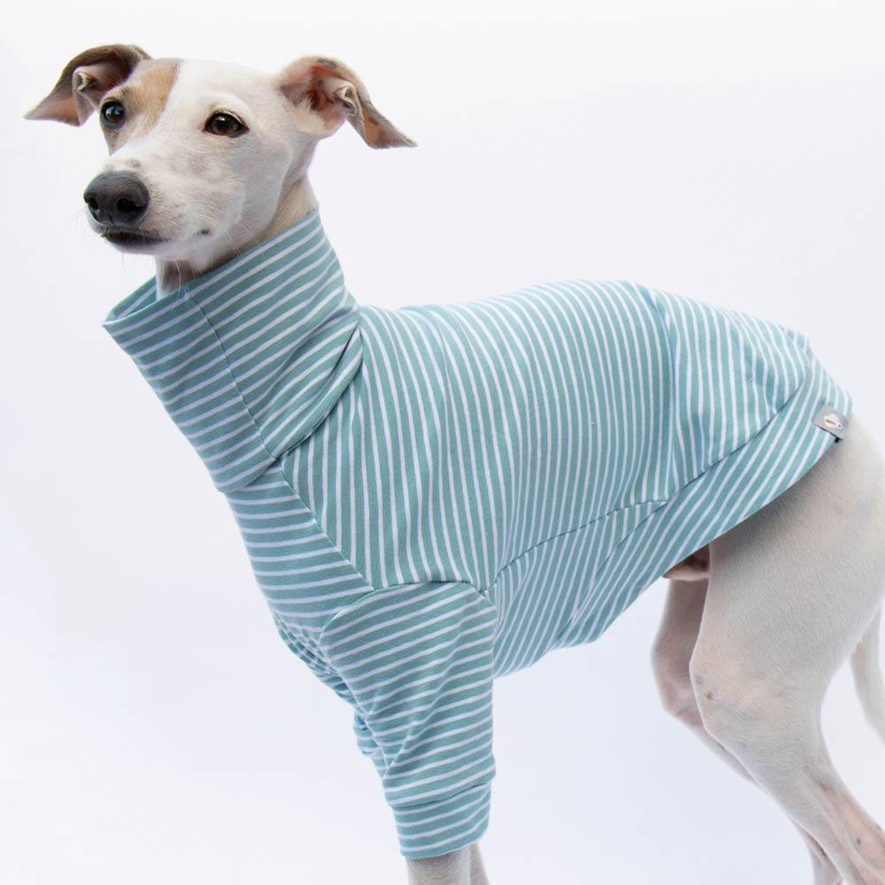Turtleneck Sweater in Blue/White Stripe - IGGY DOGWEAR