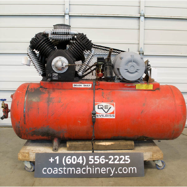 Devilbiss 445 15HP Compressor - Coast Machinery Group Inc