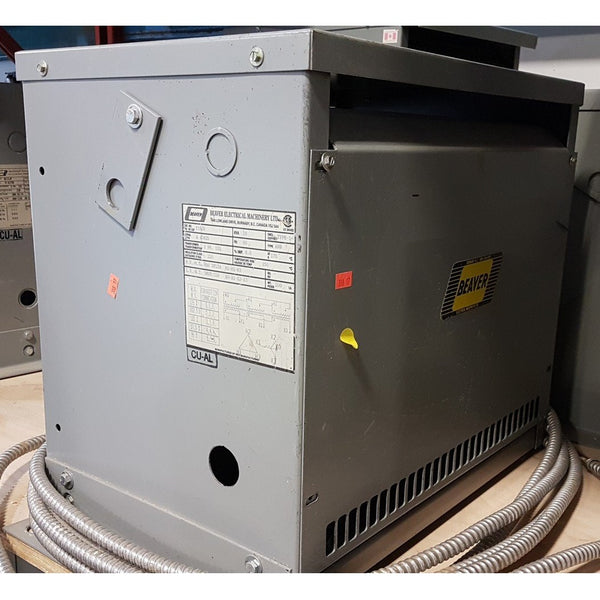 Beaver 15KVA 600V Delta 380Y/220V ANN Transformer - Coast Machinery Group Inc