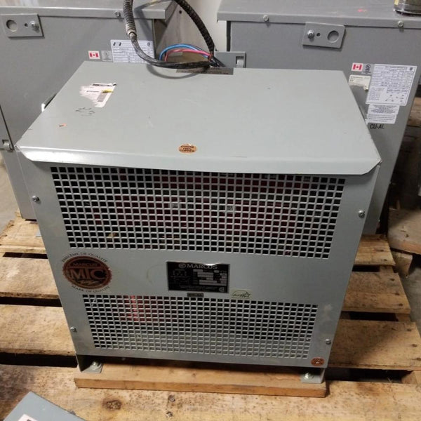 Marcus MT30H20 30KVA 208v -400/ 231V TWF Transformer - Coast Machinery Group Inc