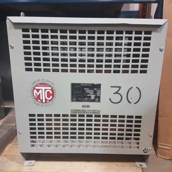 Marcus 30KVA 600V - 220/208 V   TW Transformer - Coast Machinery Group Inc