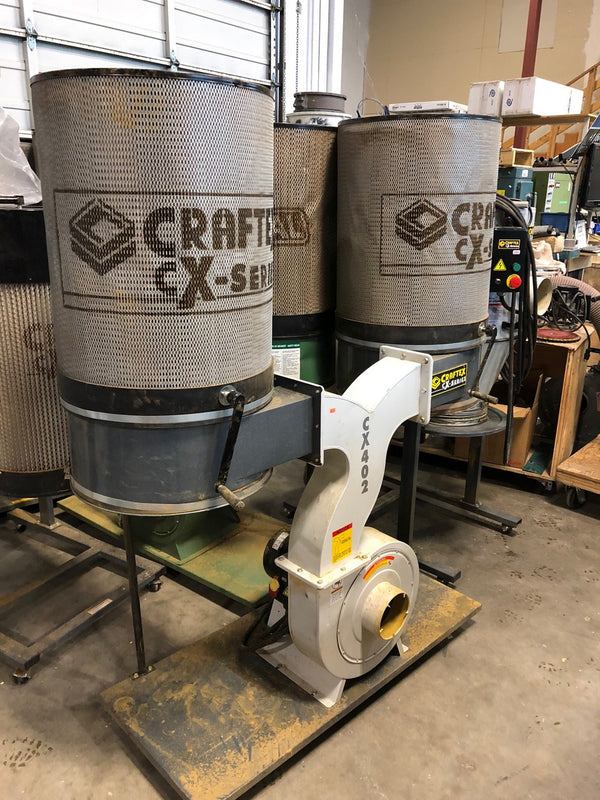 Craftex Dust Collector 3HP W/CANISTERS CSA CX402 - Coast Machinery Group Inc