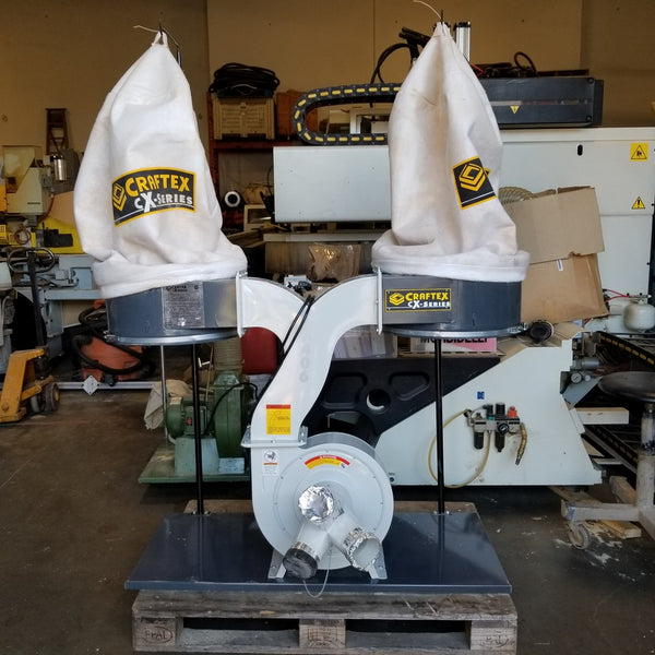 Craftex 2 Bag Dust Collector - Coast Machinery Group Inc