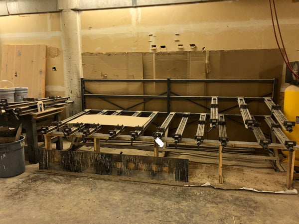 "20"" Clamp Manual 3 Tier Wood Clamping Rack - Coast Machinery Group Inc"