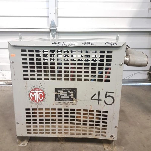 Marcus 45KVA 480V - 240V Transformer - Coast Machinery Group Inc