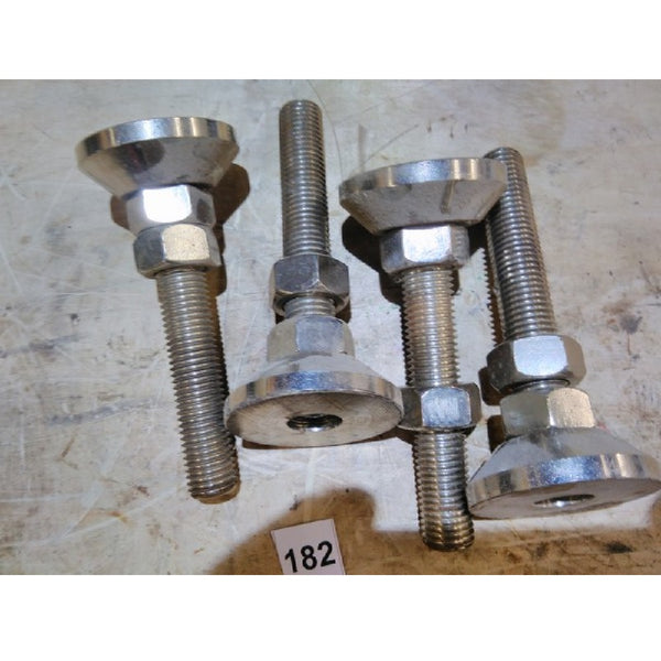 "S/S Equipment Leveling Feet 3/4""  (4) - Coast Machinery Group Inc"